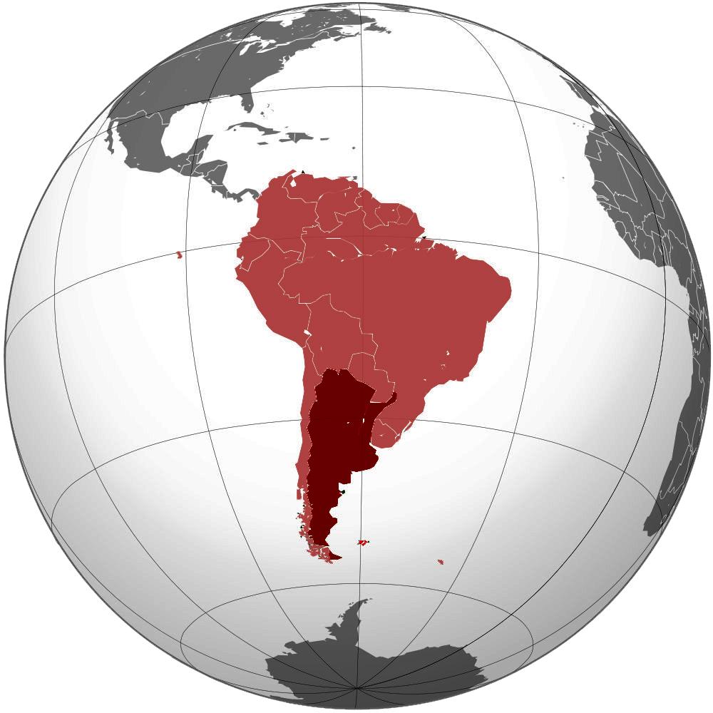 0011111 - Mapa de Sudamerica