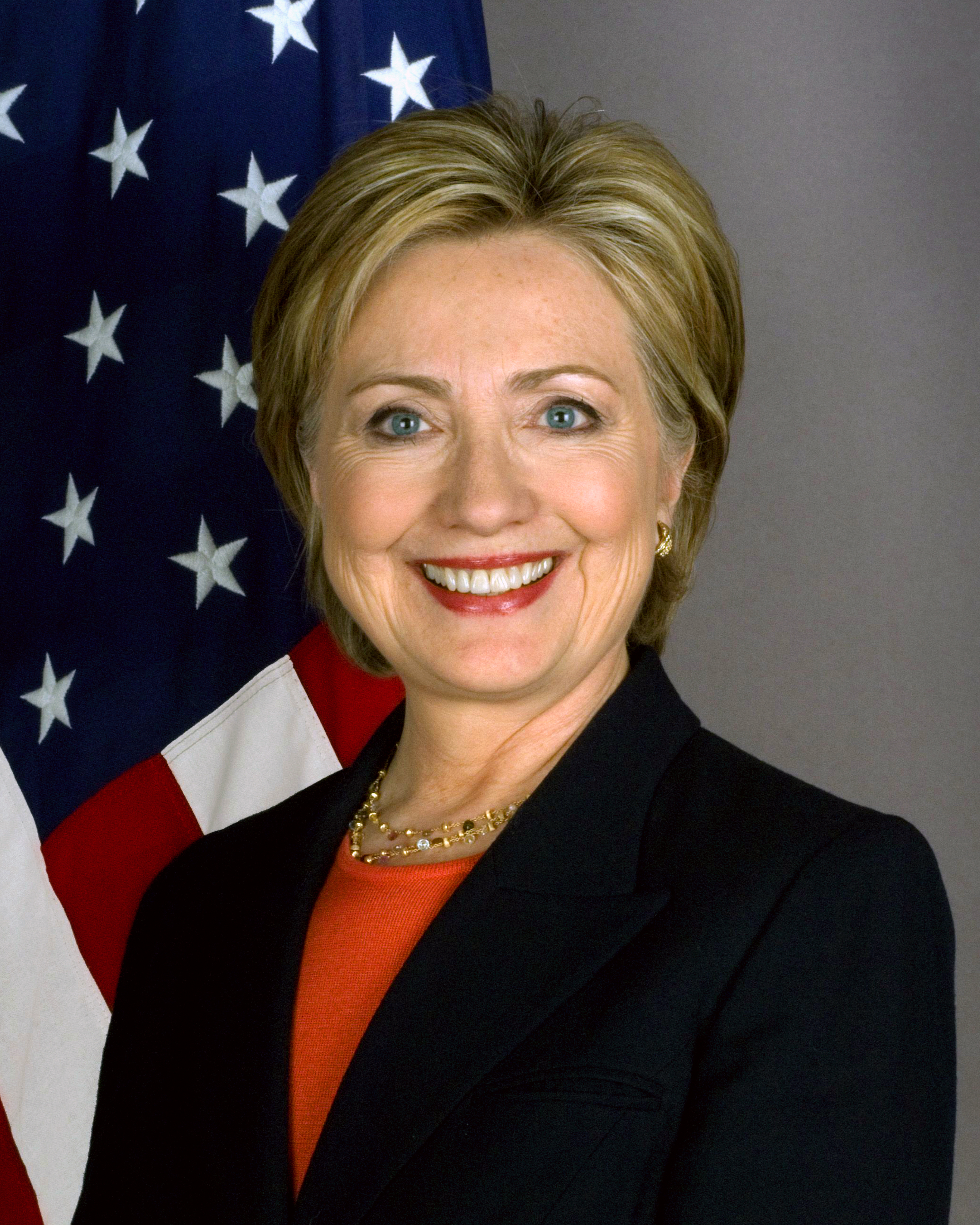 Clinton's official Secretary of State portrait (January 2009)
